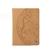 洛克 苹果ipad5/ipad Air印象系列超薄翻盖休眠保护皮套 地图黄色
