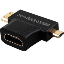 海备思 504699 HDMI转接头 mini micro HDMI转HDMI转换头 二合一高清转换接头产品图片主图