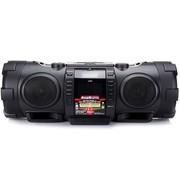 JVC RV-NB75B iPod/iPhone/USB/CD/无线蓝牙/有源超低音音乐中心迷你音响(黑色)