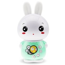 美美兔 V1 专业早教故事机婴幼儿童MP3学习机宝宝益智玩具 USB充电下载0-7岁 梦幻耳灯 胎教音乐 (清新绿)产品图片主图