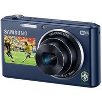 三星 DV2014F 数码相机 钴黑色(1620万像素 5倍光变 25mm广角 智能双屏 WiFi上传 内置4G卡)产品图片主图
