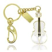 权尚 时尚水晶小提琴 8G 白色 创意 个性刻字 企业/个人定制logo