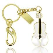 权尚 时尚水晶小提琴 8GB 创意礼品U盘 白色