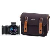哈林伯尼 H0745 啪啪思V2系列 微单摄影包 单肩背 迷你 帆布-黑色