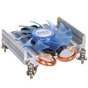 超频三 刀锋 超薄 多平台CPU散热器(27mm超薄尺寸/双热管/静音)