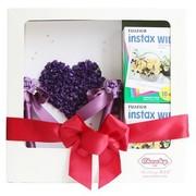 富士 拍立得相纸 婚庆礼盒套装(紫)