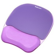 范罗士 CRC91441 人体工学水晶硅胶护腕式抗菌鼠标垫(魅惑紫)