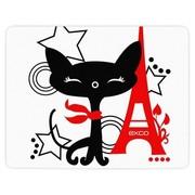 翊可 WMSP-012 鼠标垫 铁塔猫 大面积 游戏专用 卡通彩色 环保无异味