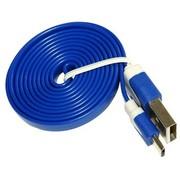 嘉速 Micro USB五彩数据线 适用于三星/联想/小米/魅族/HTC等所有Micro接口手机/数码产品 蓝色