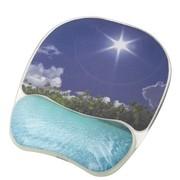 范罗士 CRC92026 人体工学炫彩系列碧海蓝天水晶硅胶 护腕式抗菌鼠标垫