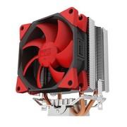 超频三 新红海 多平台CPU散热器(双高效热管/包胶减震静音风扇)