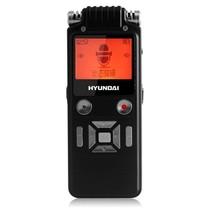 现代 A600R 8G 双核动态降噪录音笔、AGC调节、降噪级别调节、MIC灵敏度调节、PCM线性录音 黑色产品图片主图