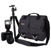 锐玛 EMB-SS05(M) 单肩斜跨帆布摄影相机包 炭灰色 可放一机两镜 独立防震内胆包