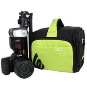 锐玛 EMB-S2430 单反相机包 单肩摄影包斜跨包单反包 尼康d7000 600d 酸橙绿 送腰带