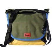 澳洲小野人 MD6003-G12P60 MD百万美元系列单肩包 橄榄绿配黄色