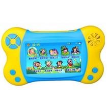 小霸王 早教视频平板故事机SB-691 4.3寸触屏可下载点读学习机幼儿启蒙小天才宝贝电脑 蓝黄色4G版+8G卡产品图片主图