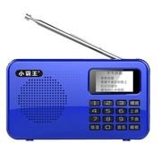 小霸王 便携迷你点歌插卡音箱PL-580 1.1寸屏收音机听戏晨练MP3播放器U盘TF卡 蓝色标配+16G卡