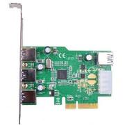魔羯 MC2043 PCIEx4转USB3.0四口扩展卡,x4插槽设计,带宽更大,支持IPad充电,Etrontech芯片