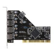 魔羯 MC1010 PCI转5路USB2.0扩展卡,4外口1内置接口,可同时全速传输,性能优于HUB,刷机用户必备
