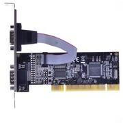 魔羯 MC1362 PCI转2路RS232扩展卡,双串口卡,半高设计,更改挡板可用于小机箱,MOSCHIP芯片