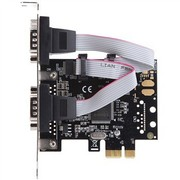 魔羯 MC2332 PCIEx1转2路RS232扩展卡,双串口卡,更改挡板可用于小机箱,提供调制解调器控制信号