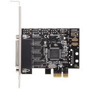 魔羯 MC2339 PCIEx1转4路RS232扩展卡,带1分4数据线,提供调制解调器控制信号,半高设计