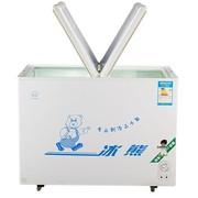 冰熊 BD/BC-258 258升冷藏冷冻转换单温蝴蝶门冷柜冰柜展示柜