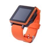 喜越 U6智能手表手机 情侣对表 蓝牙手表 橙黑