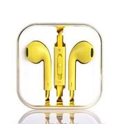 古尚古 手机耳机入耳式线控魔音面条线 适用于华为荣耀6/小米4/3/魅族mx3/苹果 柠檬黄