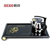 新功(SEKO) 电热水壶茶具 电茶炉 电茶壶不锈钢  自动上水功夫茶盘套装F10-1
