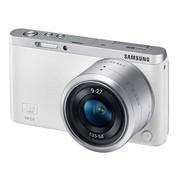 三星 NX mini 微型单电套机 白色 (NX-M 9-27mm F3.5-5.6 ED OIS 镜头)