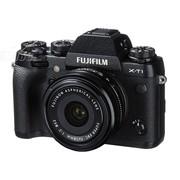 富士 X-T1 单电套机 黑色(XF 18mm F2 R镜头)