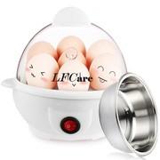 莱弗凯 ZDQ-201-A快速煮蛋器,蒸蛋器 送不锈钢蛋器 白色+不锈钢碗