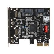 魔羯 MC2654 PCIEx1转2内口SATA2扩展卡,端口倍增功能,支持RAID0,1,支持热插拔,即插即用