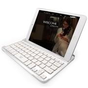 的牌(d-park) 超薄无线蓝牙铝合金实体键盘 适用于苹果iPad mini3/mini2 Retina/mini 银色