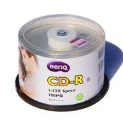 明基 CD-R 52速 700MB 经典系列 银色 桶装50片 刻录盘