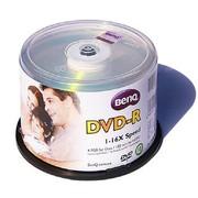 明基 DVD-R 16速 4.7G 经典系列 银色 桶装50片 刻录盘
