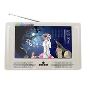 小霸王 视频扩音器E-919 9寸高清视频电视接收扩音器唱看戏机音响内置FM收音机 白色+4G早教5号MP3卡