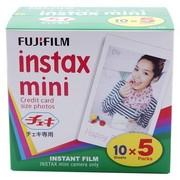 富士 instax 趣奇Checky一次成像mini相机专用 胶片/相纸 白边(50张装)