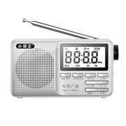 小霸王 便携式插卡音箱PL-790 FM收音机 迷你小音响老人晨练外发MP3播放器 音乐点歌 银色标配+16G空卡