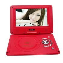金正 移动电视EVD 911 12英寸便携式DVD影碟机 3D高清可旋转屏读光盘SD卡 红产品图片主图