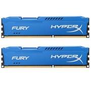 金士顿 骇客神条 Fury系列 DDR3 1866 16GB(8Gx2条)台式机内存(HX318C10FK2/16)蓝色