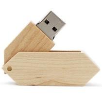 权尚 环保木质折叠 8g环保木质折叠U盘 礼品定制优盘产品图片主图