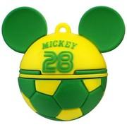 迪士尼 MICKEY`S GOAL限量版 世界杯创意礼品U盘 16G 桑巴军团(绿)