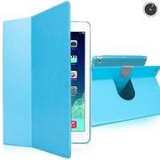 爱派 苹果iPad Air/iPad 5 360系列 高档金属旋转多档位调节 超薄休眠保护套 蓝色