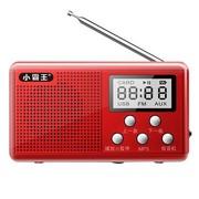 小霸王 便携式迷你插卡音箱PL-730 老人收音机听戏机晨练播放器 红色标配+16G空卡