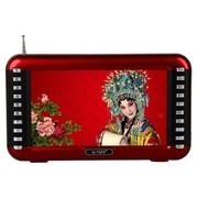 不见不散 T7000(红色) 7英寸720P高清视频扩音器 老人看戏机收音机插卡音箱多功能播放器