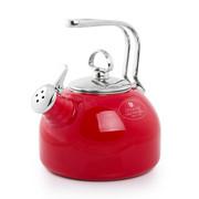 尚塔尔(CHANTAL) 美国 经典烧水壶 开水鸣笛 内胆外层珐琅 防锈防水垢 中国红