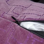 瀚金鲨 多功能汽车抱枕简约格调 紫色