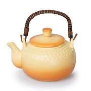 佐治 日本原装进口万古烧 土瓶黄色 水壶茶壶提梁壶 2000ml